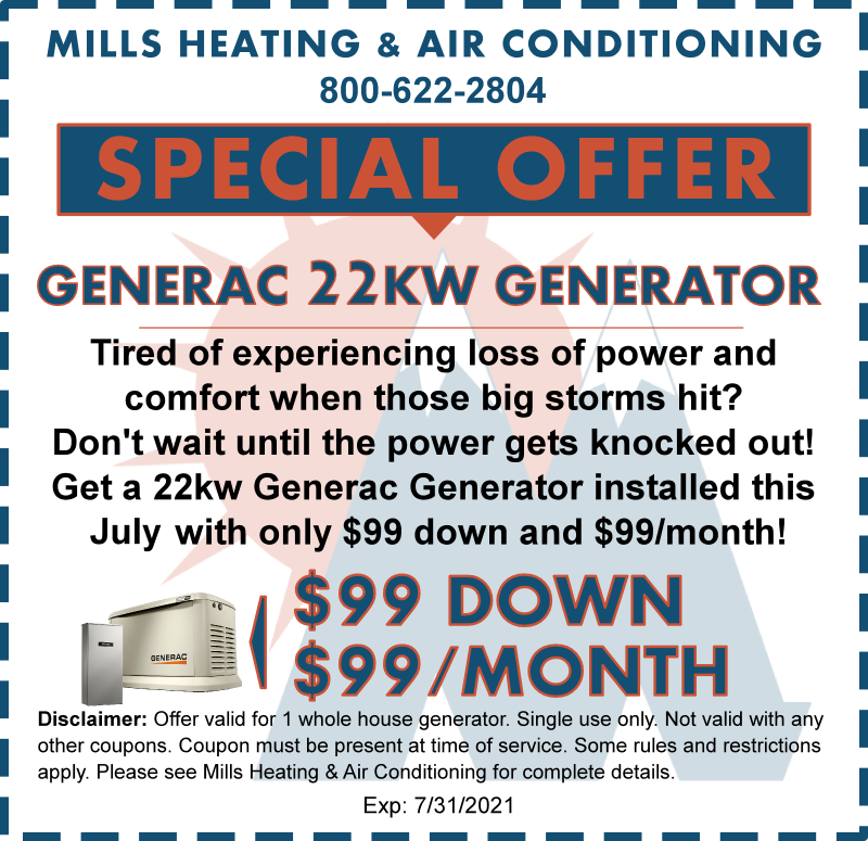 generator special offer discount coupon july 2021