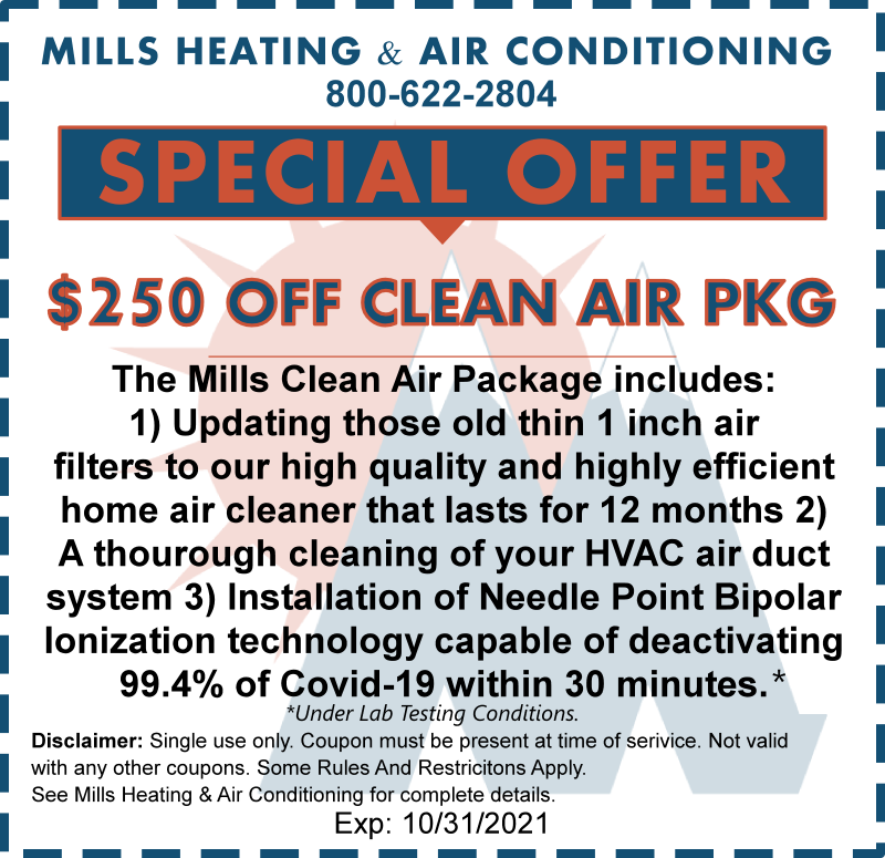 clean air package discount coupon october 2021